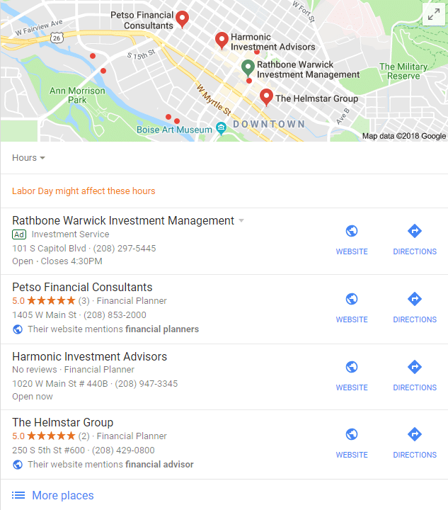 Local Search for Advisors: Google Maps | Local SEO for Advisors