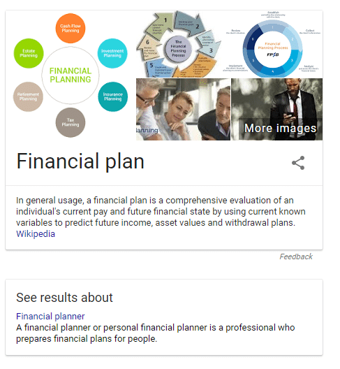 Knowledge Graph for Financial Plan | Advisor SEO