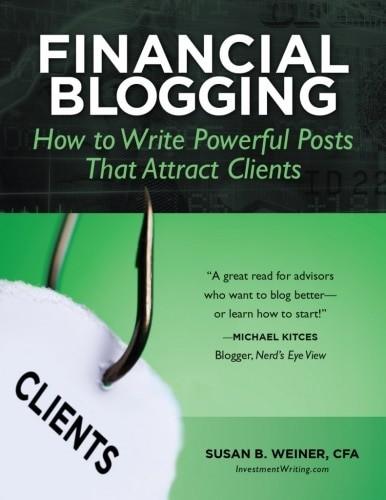 Financial Blogging Book | Susan Weiner