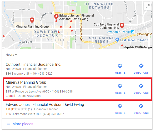 Advisor SEO Case Study: Financial Planner