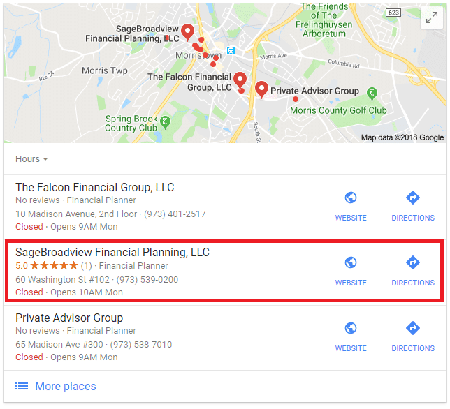 Advisor SEO Case Study: Financial Planning