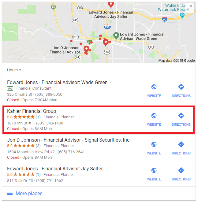Advisor SEO Case Study: Financial Advisor
