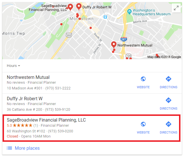 Advisor SEO Case Study: Business Financial Planning