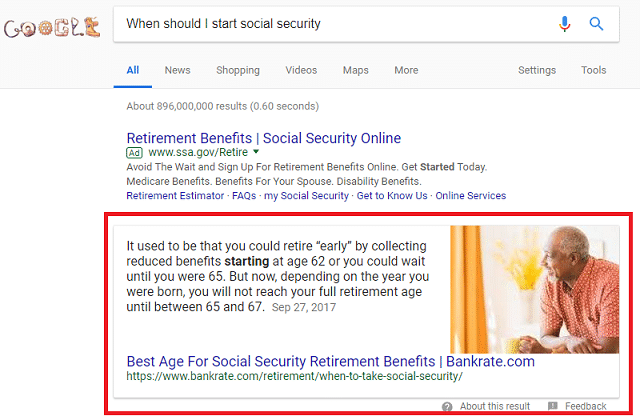 Featured snippet for Financial Advisors | Advisor SEO